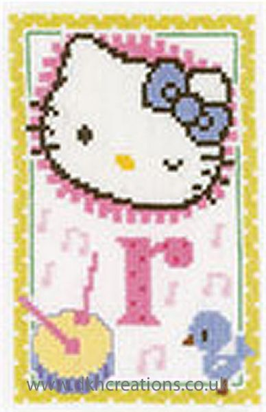 Hello Kitty Alphabet Letter R Cross Stitch Kit
